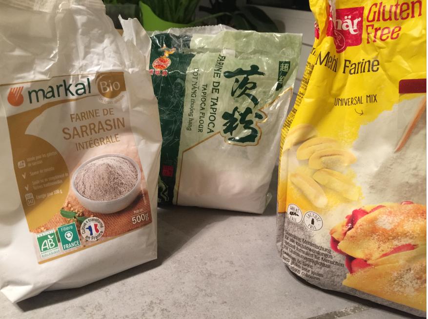 farine sarrasin- farine de tapioca - farine de gluten